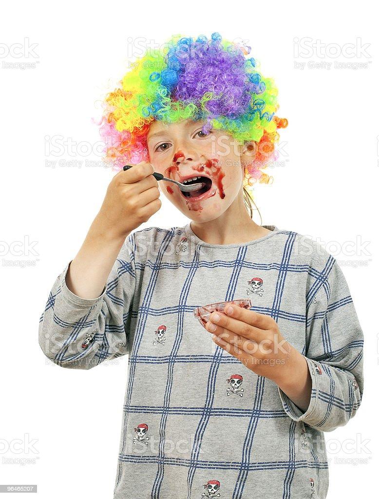 Boy eat jam royalty-free stock photo