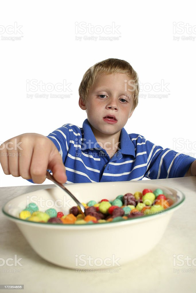 boy eating cereal royalty-free stock photo