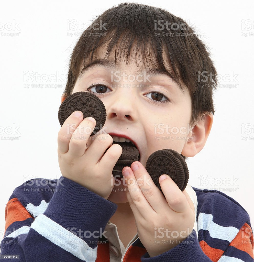 Boy Eating Cookies royalty-free stock photo