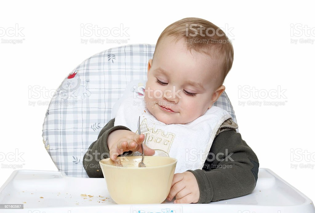 boy eating royalty-free stock photo