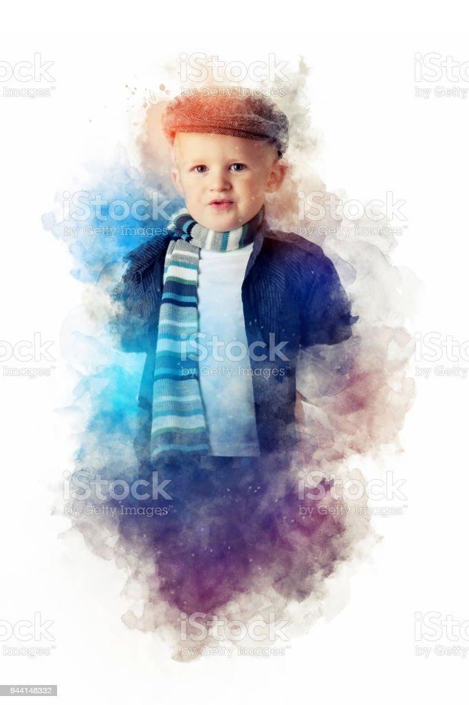 Junge aus Rauch – Foto