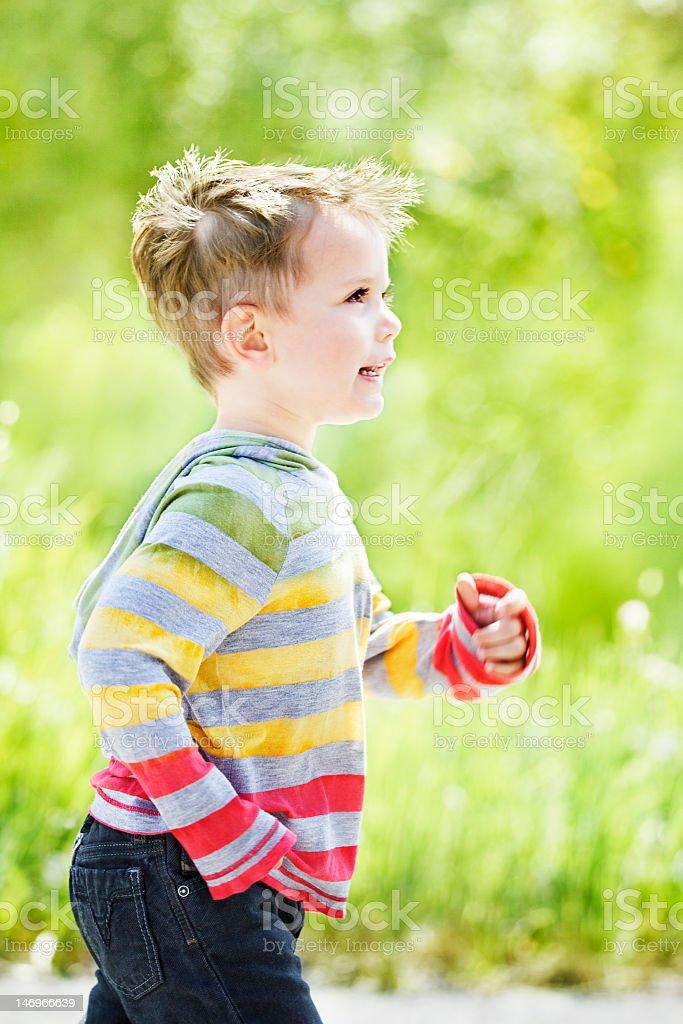 Boy energy stock photo