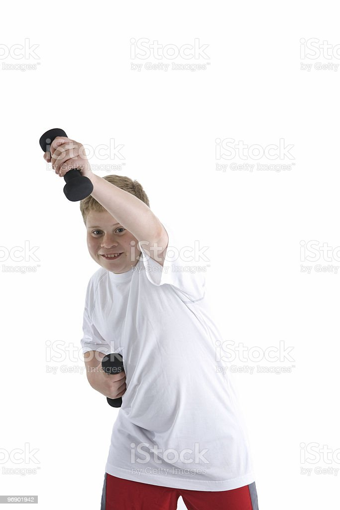 Boy Excersising royalty-free stock photo