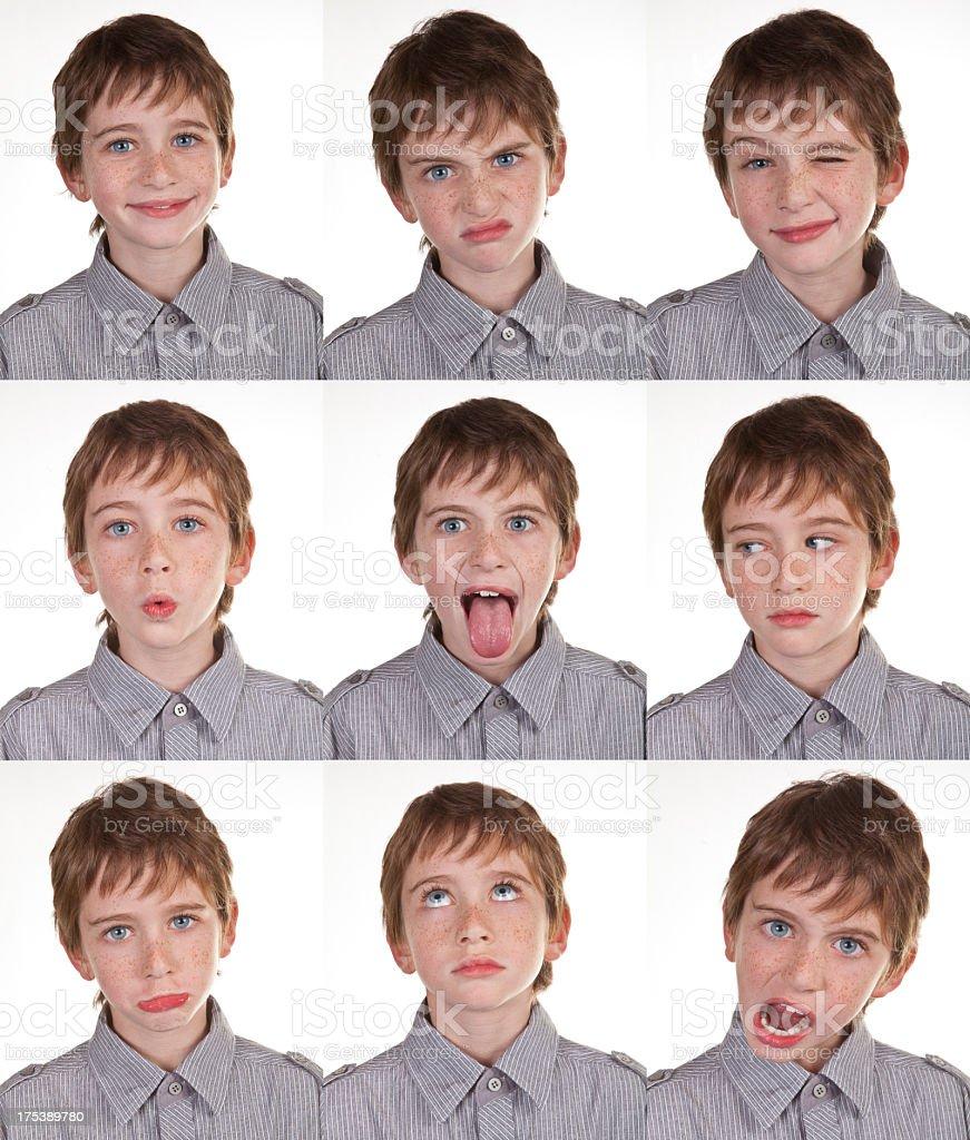 Boy Expression Set royalty-free stock photo