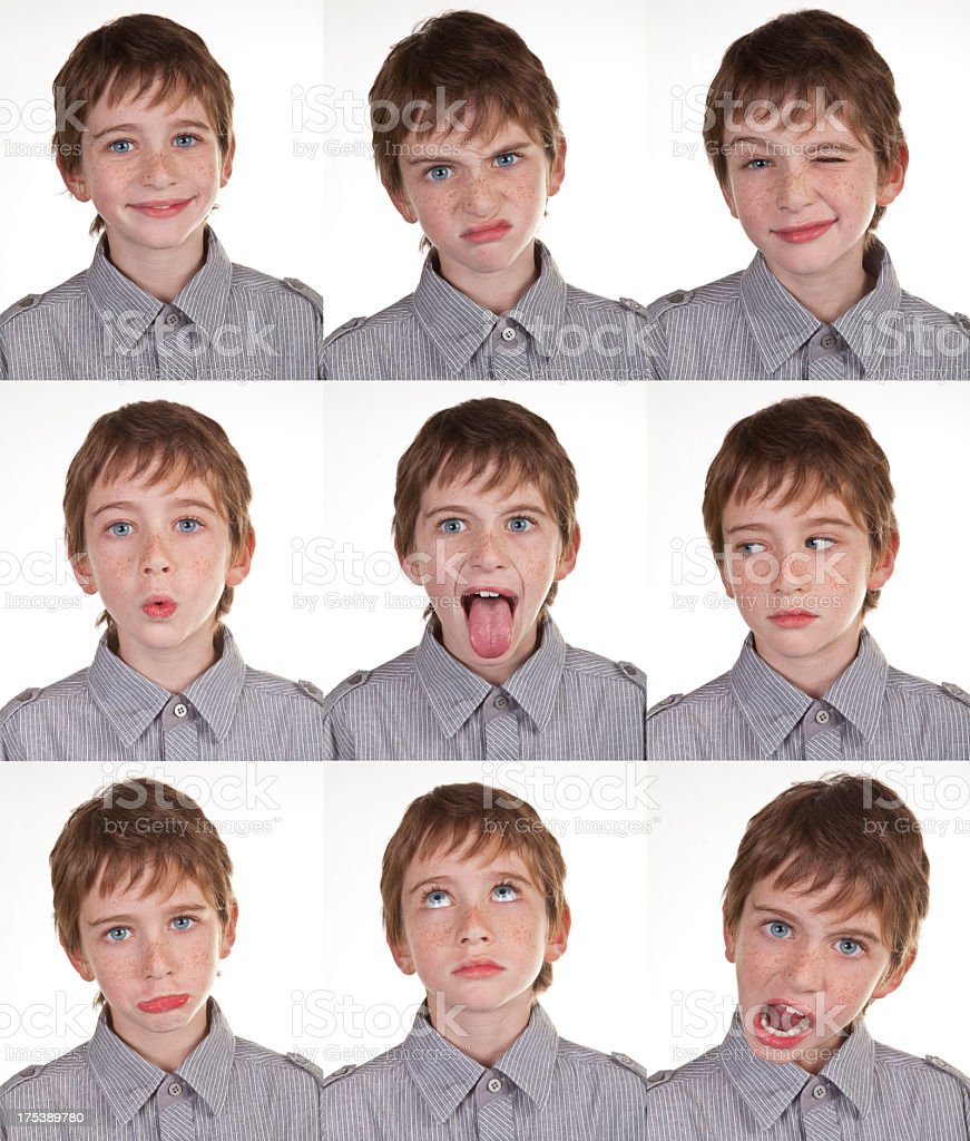 Boy Expression Set stock photo