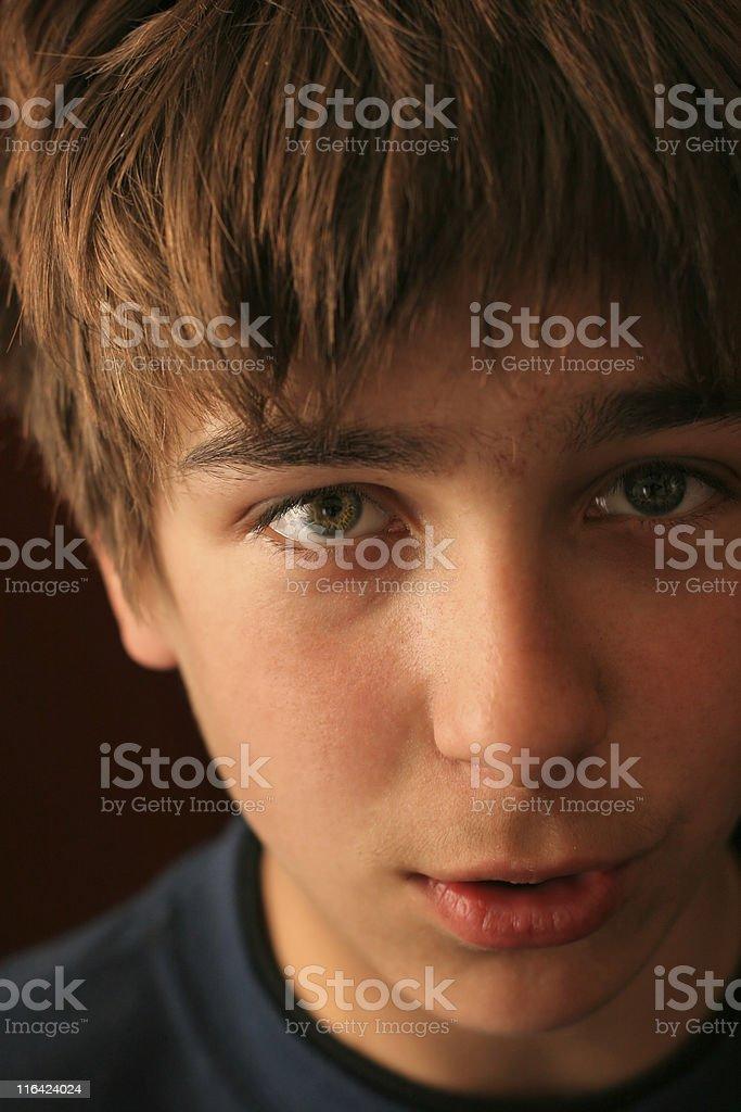 boy face close up royalty-free stock photo