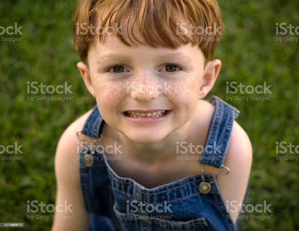 Boy Farmer with Worried Expression royalty-free stock photo