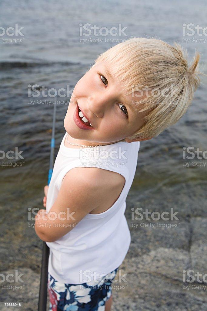 A boy fishing royalty-free 스톡 사진