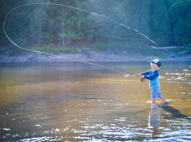 Junge Fliegenfischen – Foto