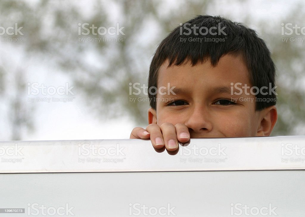 Boy Furtive Look royalty-free stock photo