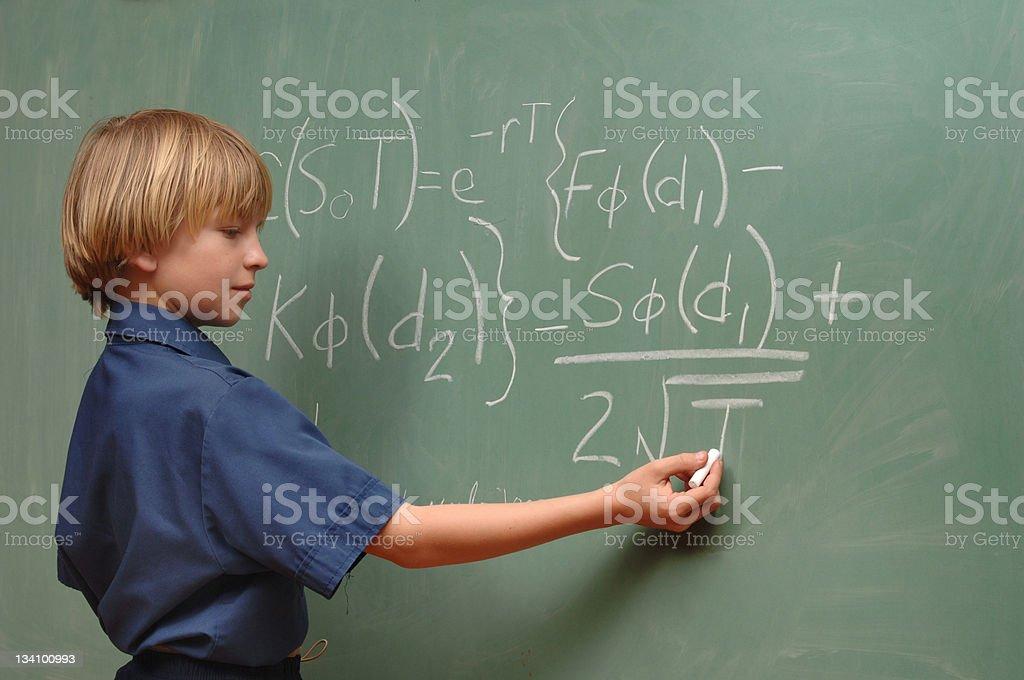 Boy Genius stock photo