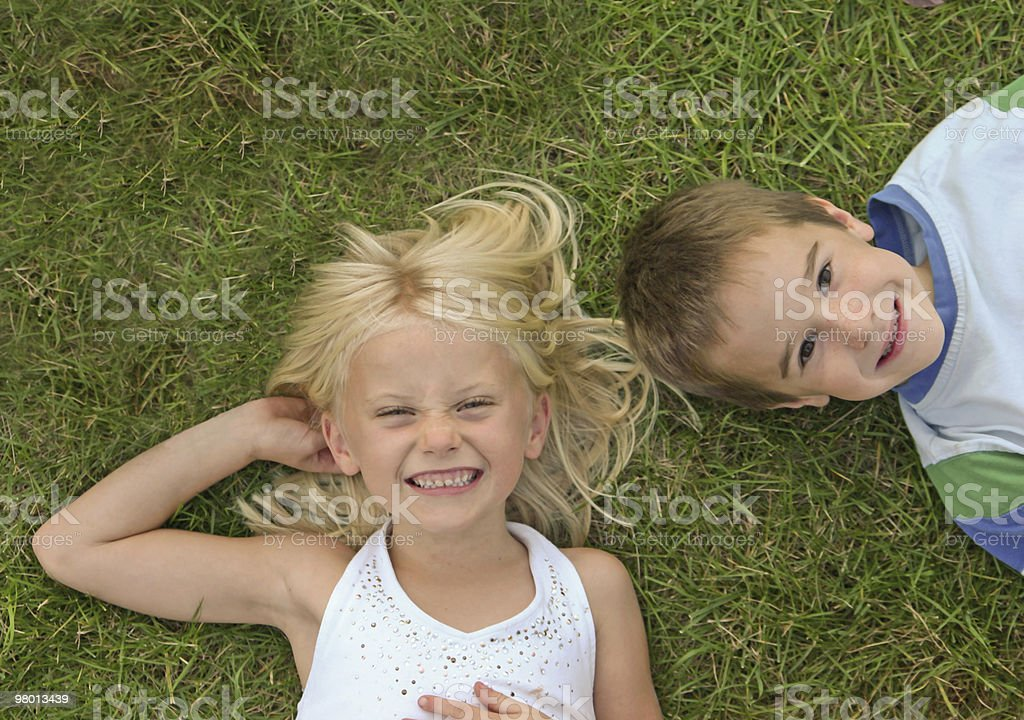 Boy & Girl Smiling royalty-free stock photo