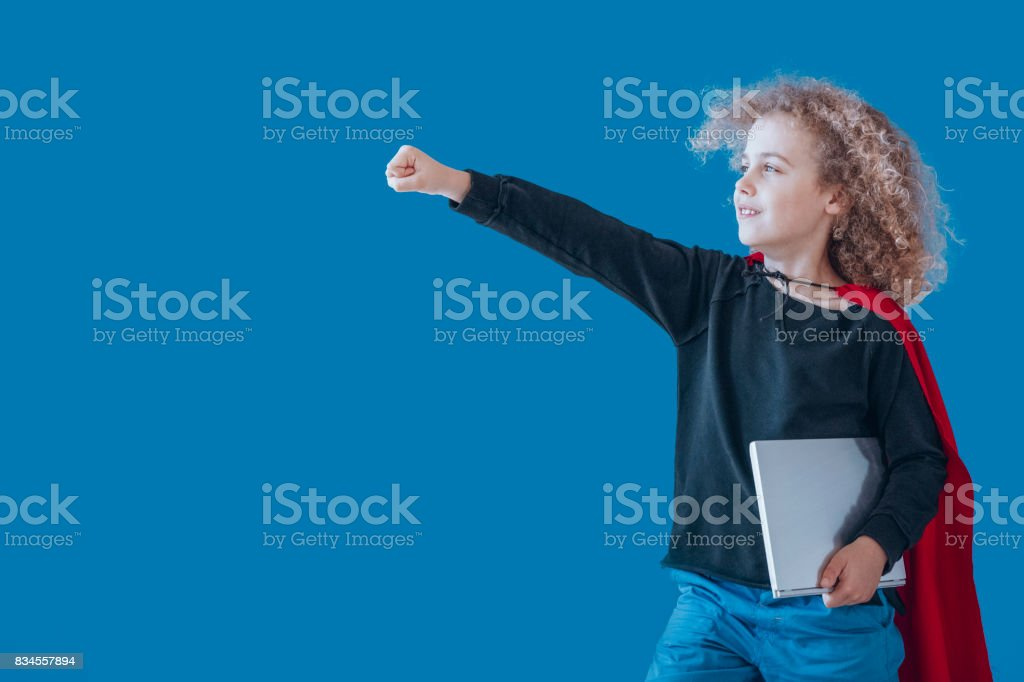 Boy goes to classes stock photo
