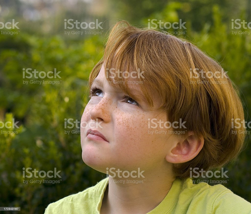 Boy Grieving and Disappointed royalty-free stock photo