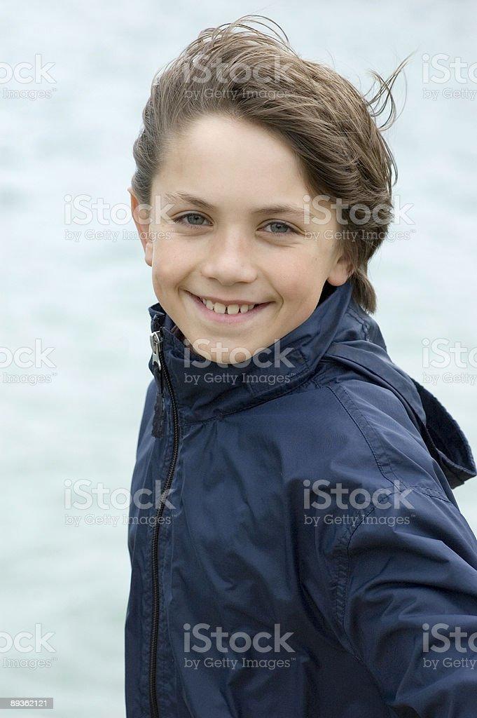Boy happy stock photo