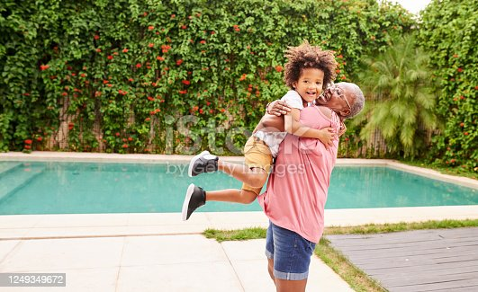 istock Boy having fun with granny 1249349672