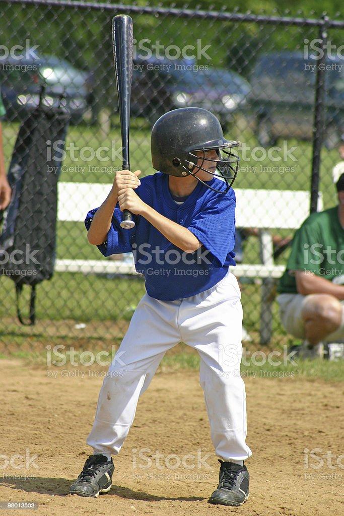 Boy Hitting royalty-free stock photo