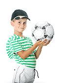 Fotografía de Duración Completa Retrato De Un Niño Con Una Pelota De ... cec56b0ec1137
