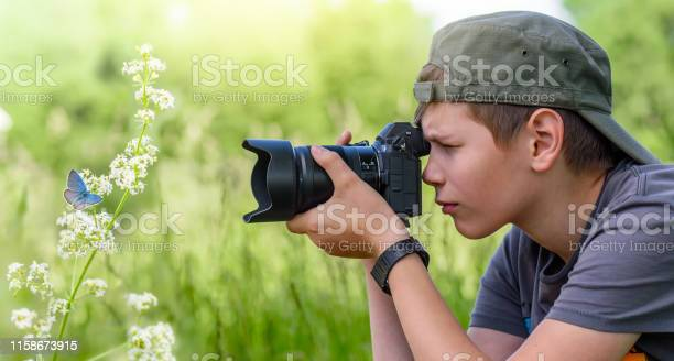 Boy holding digital camera and shooting butterfly on the wild flower picture id1158673915?b=1&k=6&m=1158673915&s=612x612&h=f8ssuovpppvmuqqdpa5cpzcv67blpi681v05vrnfxlu=
