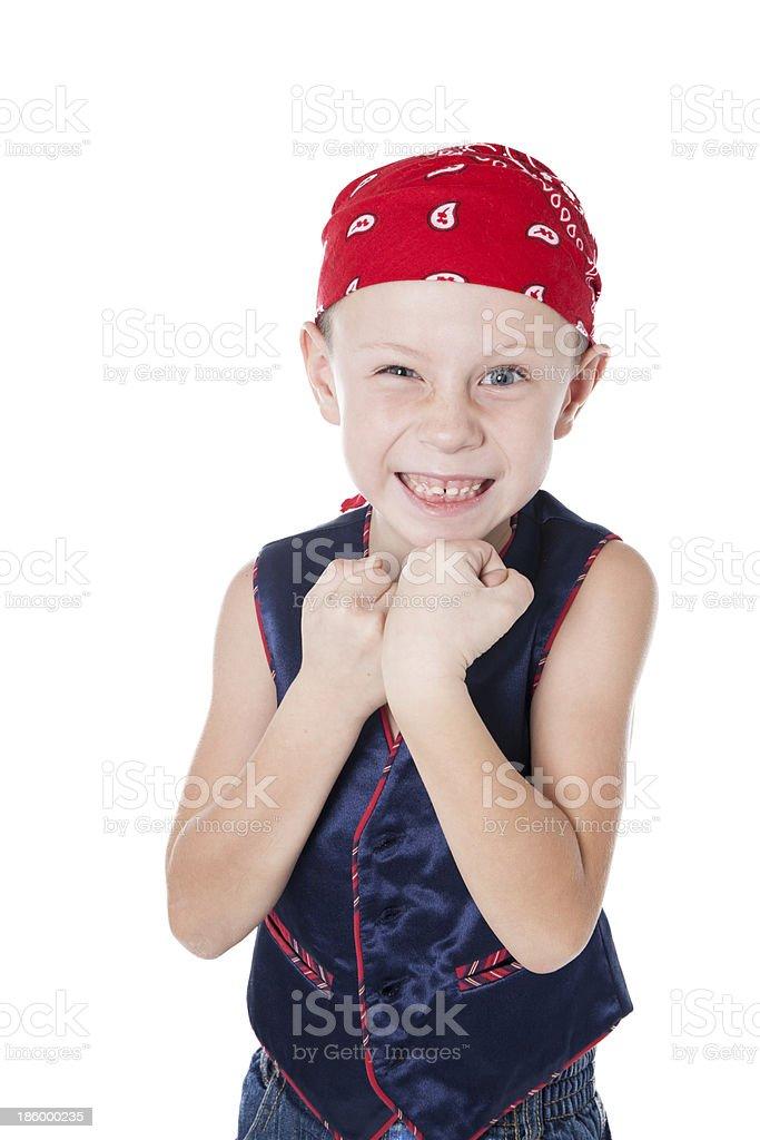 Niño en bandanna - foto de stock