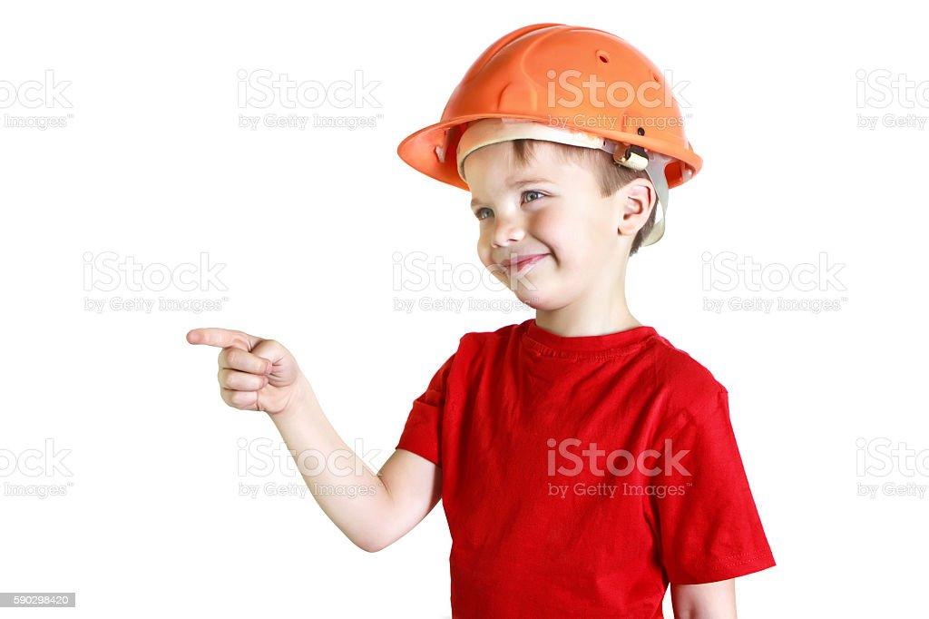 Boy in a helmet royaltyfri bildbanksbilder