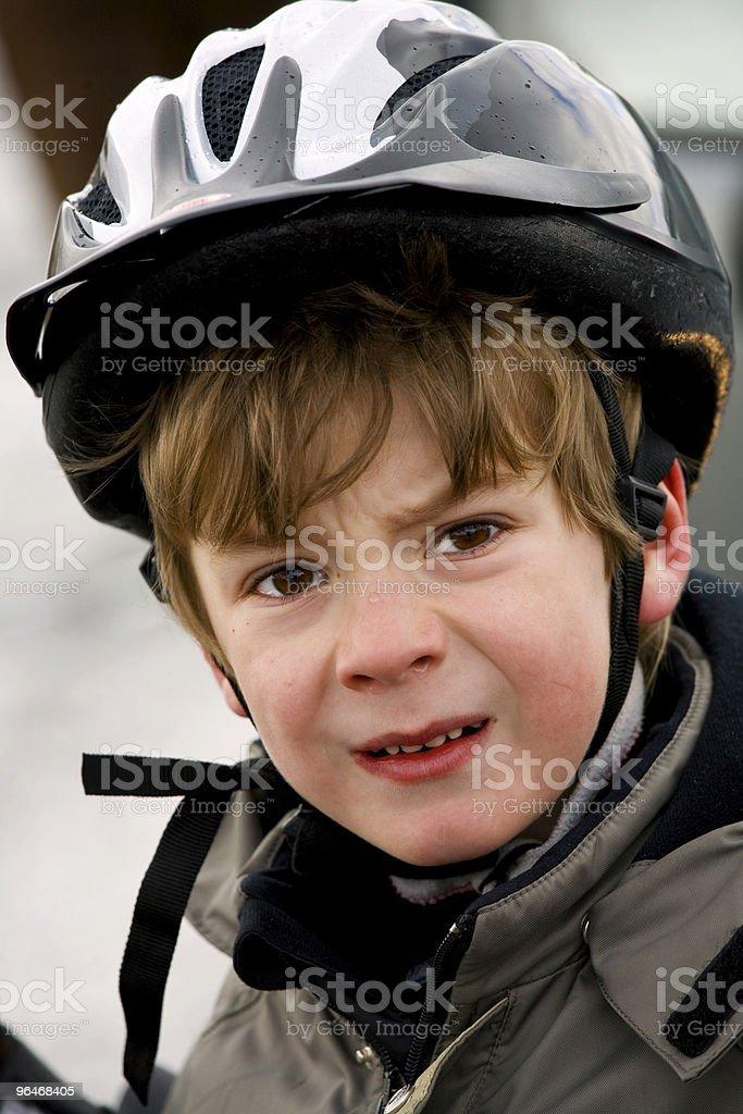 Boy in a helmet royalty-free stock photo