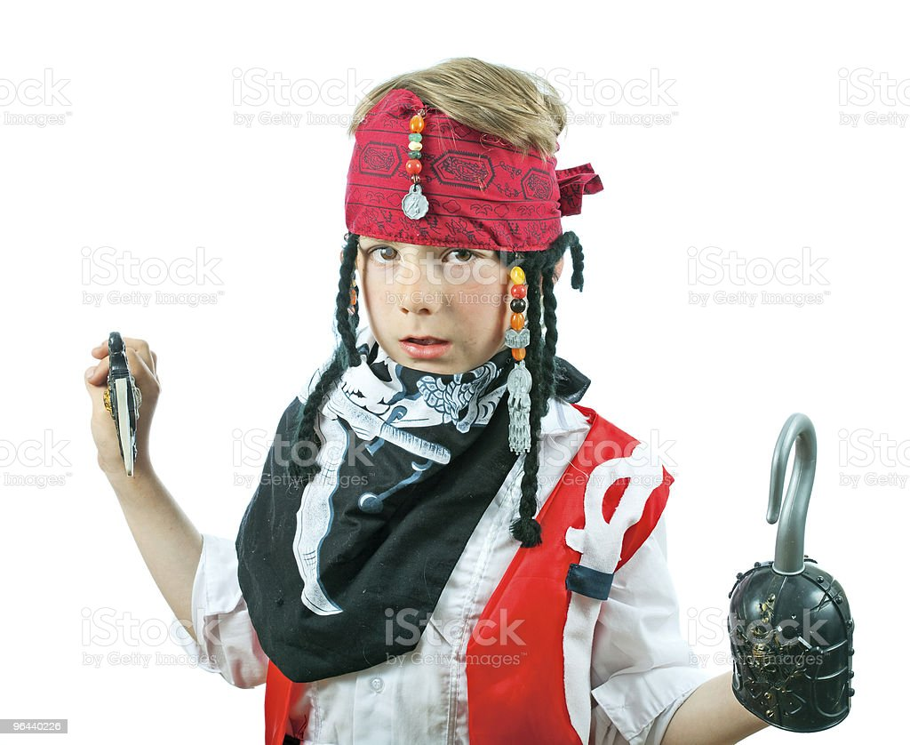 Boy in a pirate costume - Royalty-free Afbeelding Stockfoto