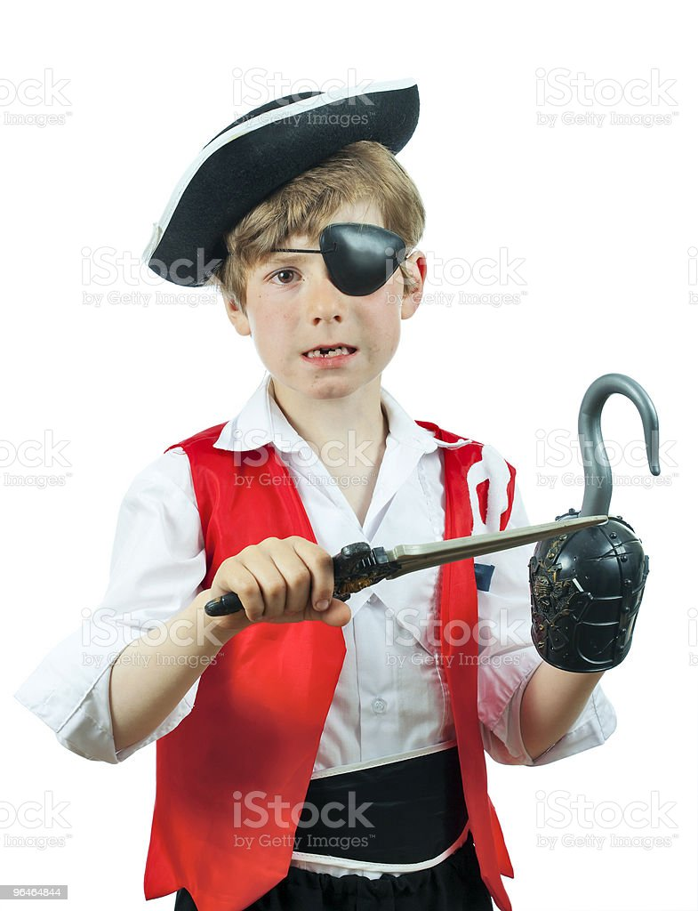 Boy in a pirate costume royalty-free stock photo