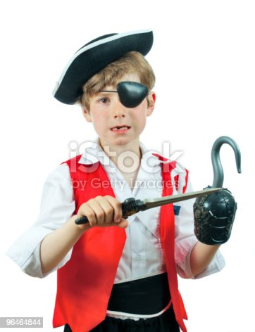 Boy In A Pirate Costume Stock Photo & More Pictures of Artificial
