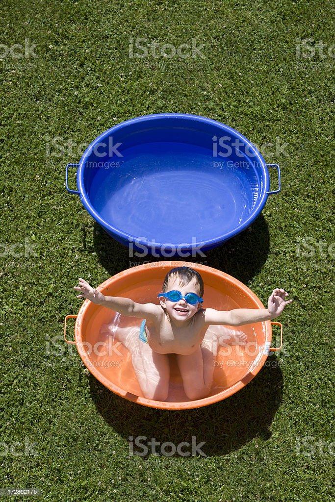 Boy in bathtub royalty-free stock photo