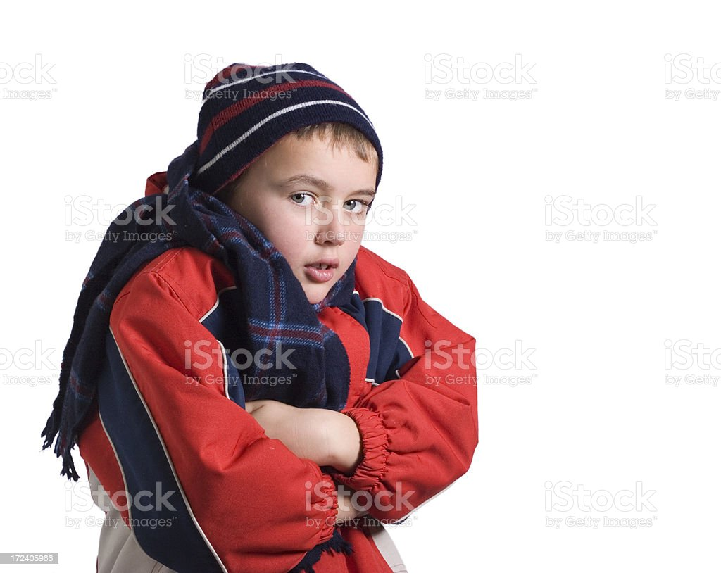 Boy in coat 3 royalty-free stock photo