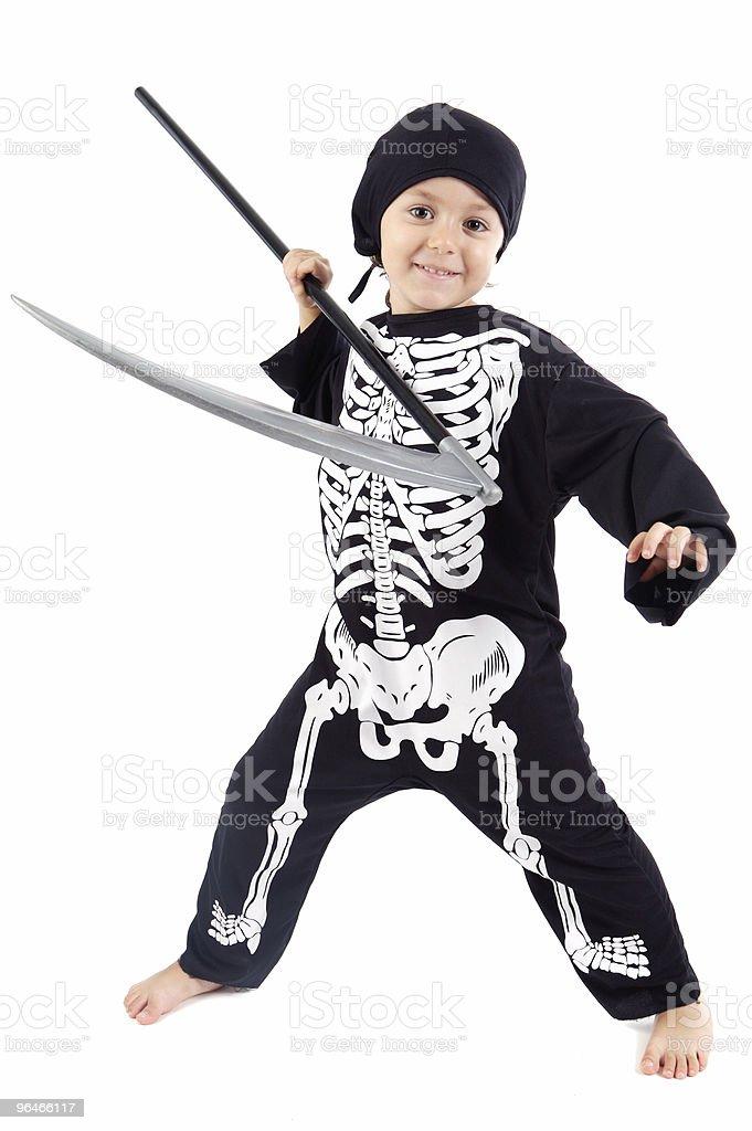 Boy in halloween royalty-free stock photo