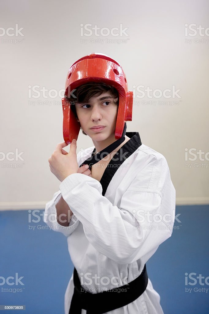 Boy In Judo Gear Stock Photo - Download Image Now - iStock
