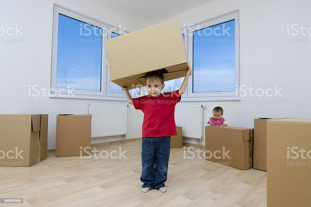 Boy in New House royalty-free stock photo