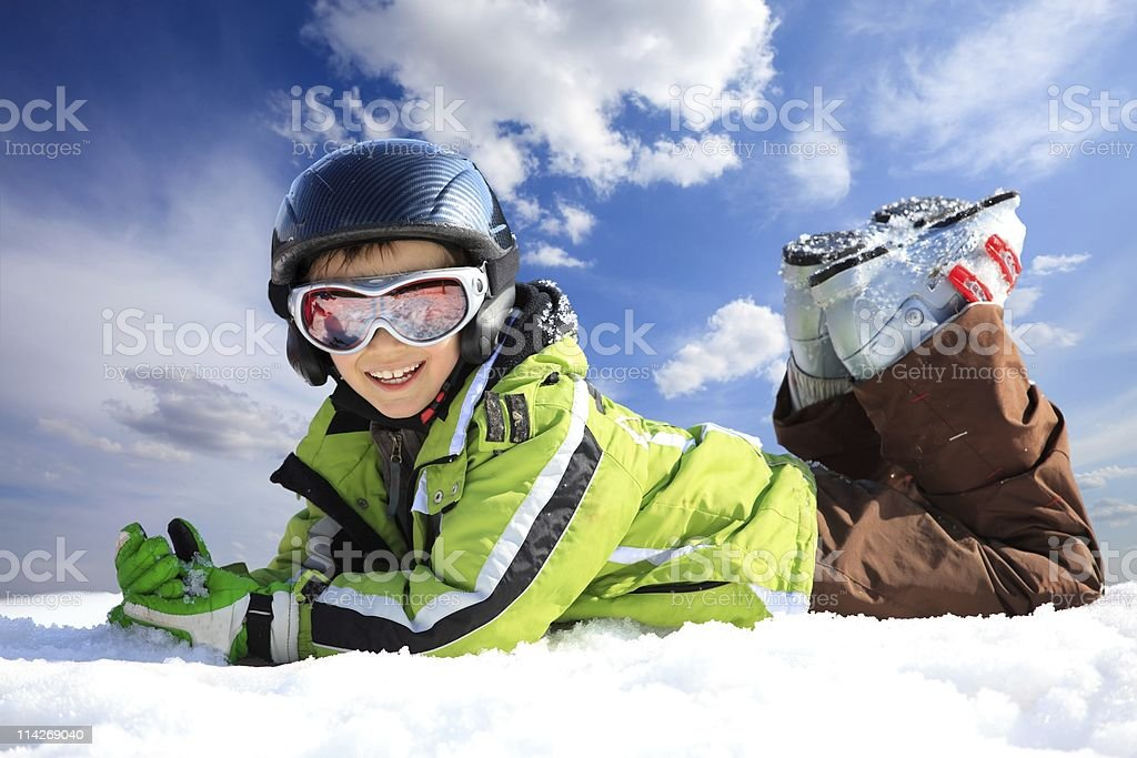 Boy in ski wear royalty-free stock photo