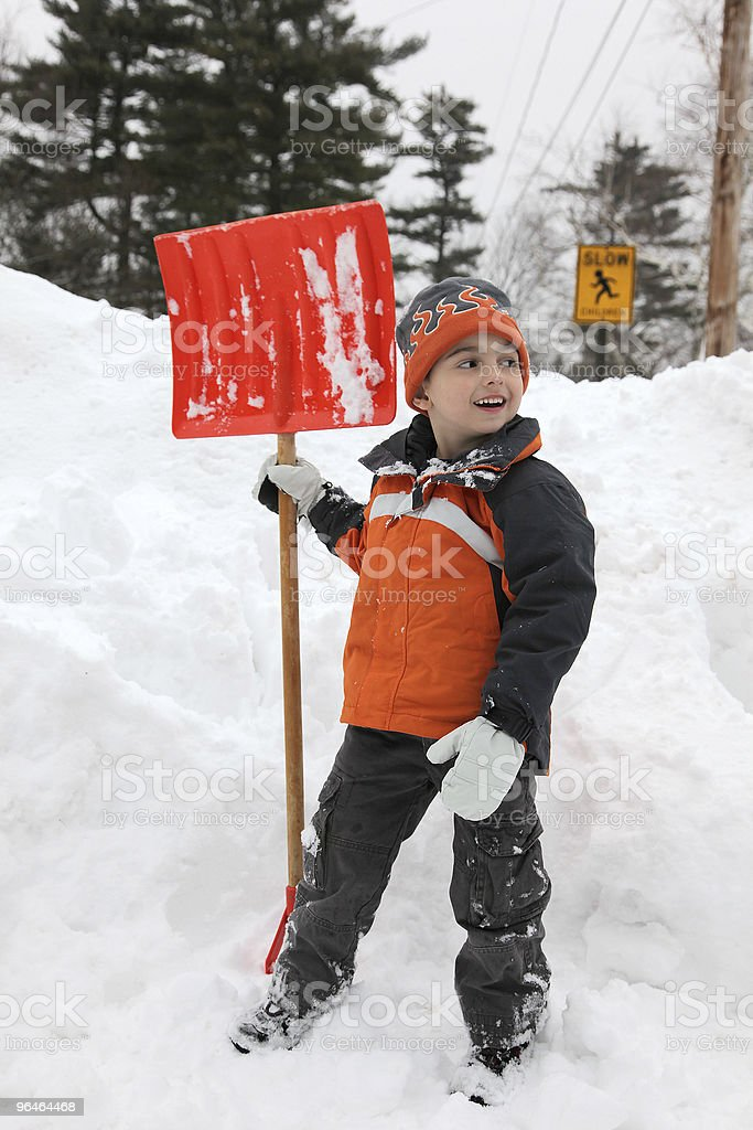 Boy In Snow royalty-free stock photo