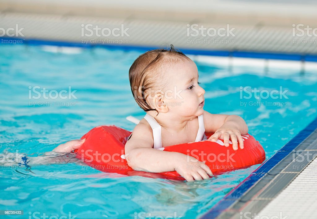 Boy in swimming pool royalty-free stock photo