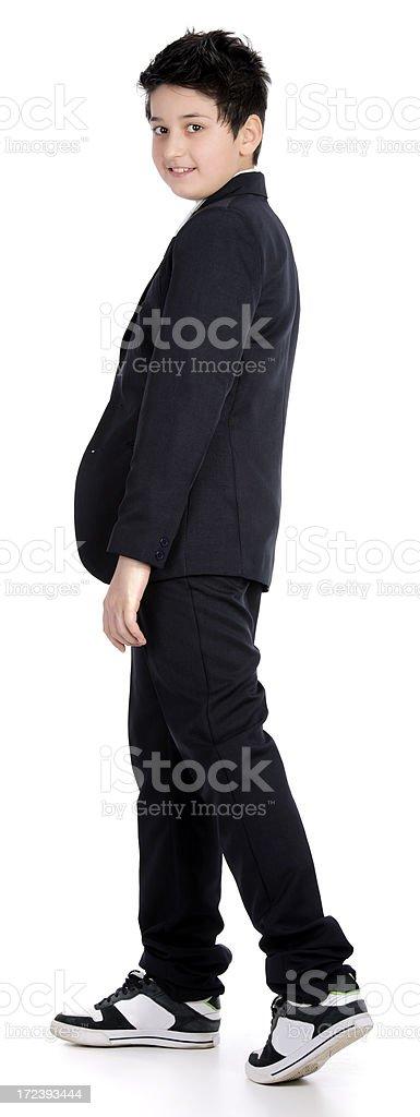 boy in uniform royalty-free stock photo