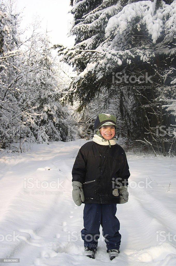 Garçon en hiver photo libre de droits