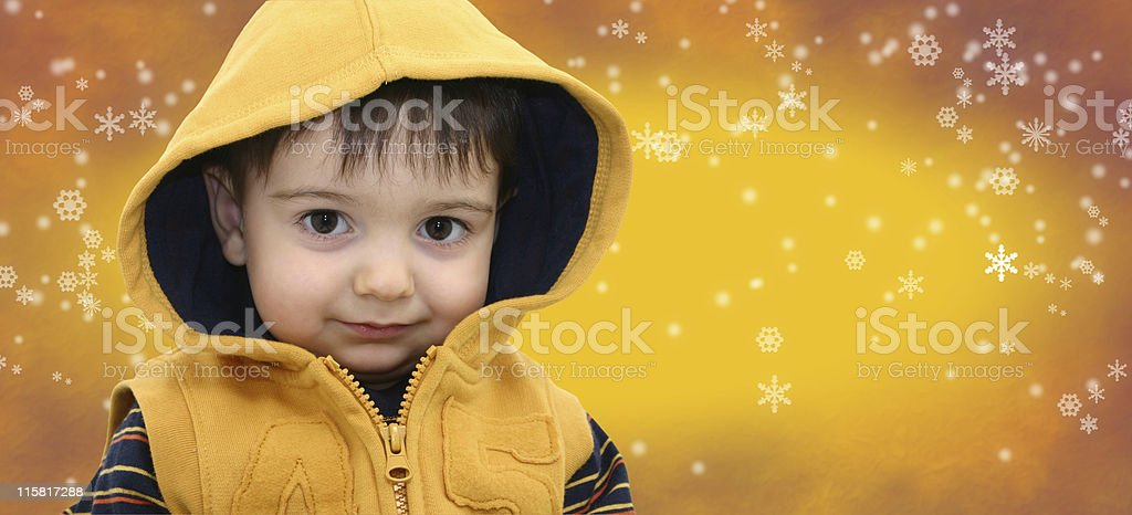 Boy in Yellow royalty-free stock photo