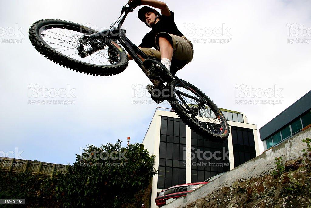 BMX  Boy, jump off the wall royalty-free stock photo
