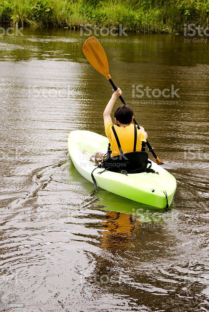 Boy Kayaking royalty-free stock photo