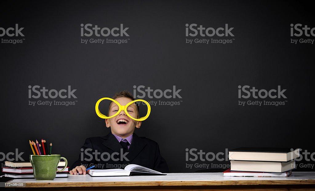 boy laughing royalty-free stock photo