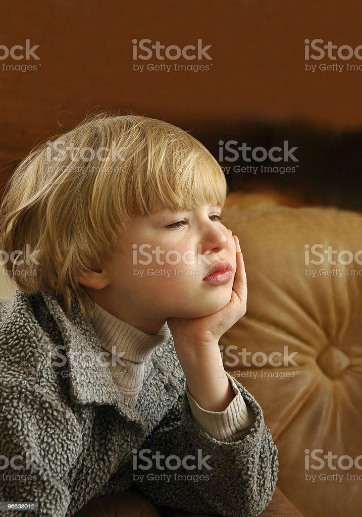 Boy longing royalty-free stock photo