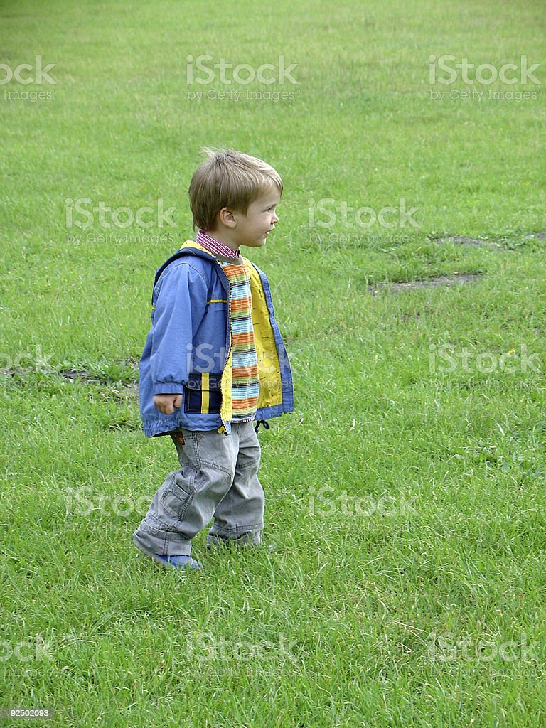 Boy looking at something royalty-free stock photo