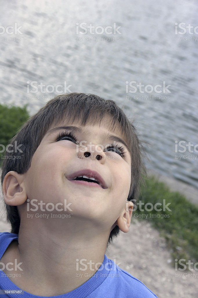 Boy looking for something royalty-free stock photo