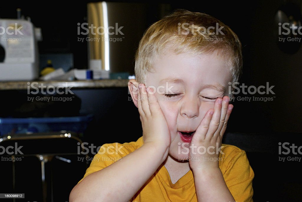 Boy Making a Funny 'Oh my' Face stock photo