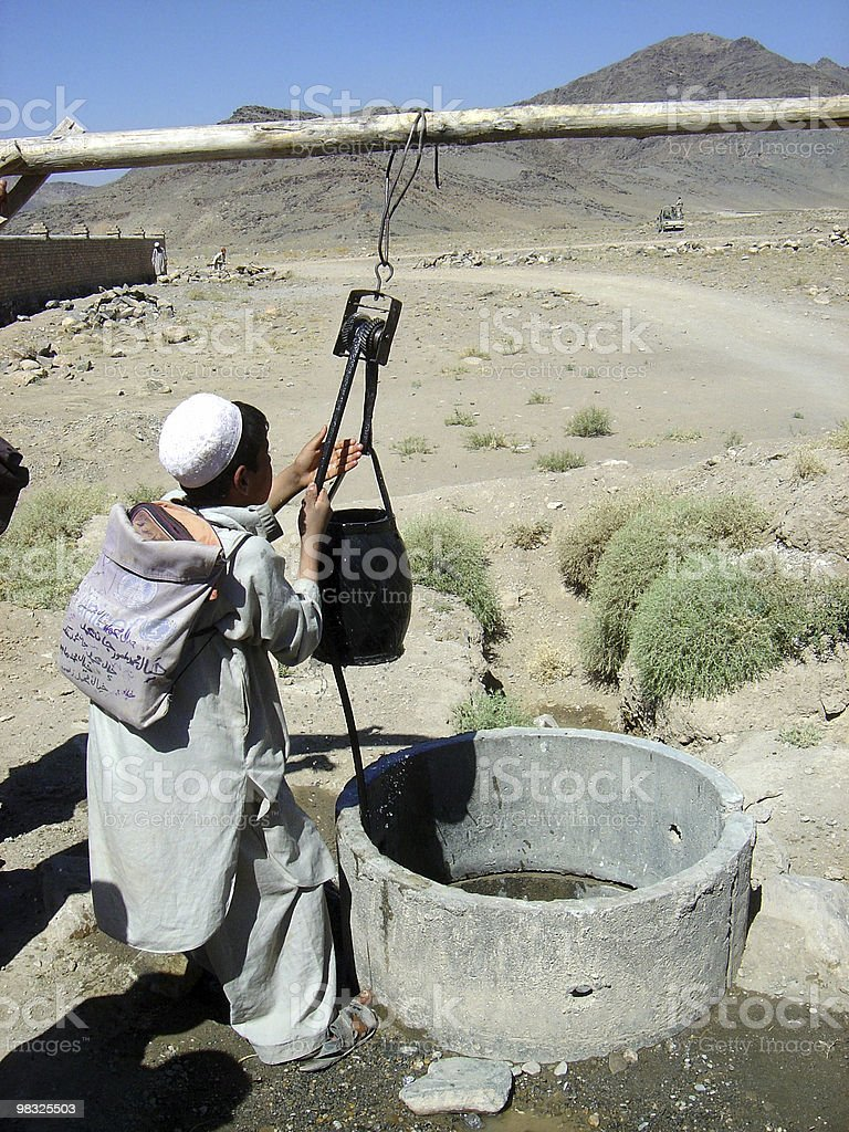 boy needs water royalty-free stock photo