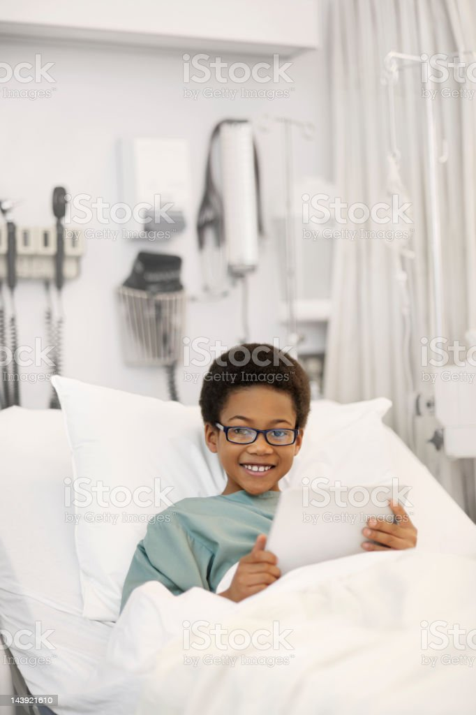 Boy of African decent in the hospital royalty-free stock photo