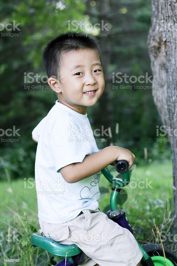 boy on bike royalty-free stock photo